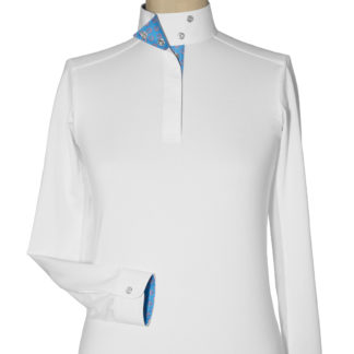 "Beacon Hill Girls Talent Yarn ""Lucky"" Wrap Collar Show Shirt"
