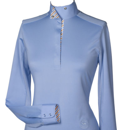 """Azure"" Ladies Talent Yarn Straight Collar Show Shirt"