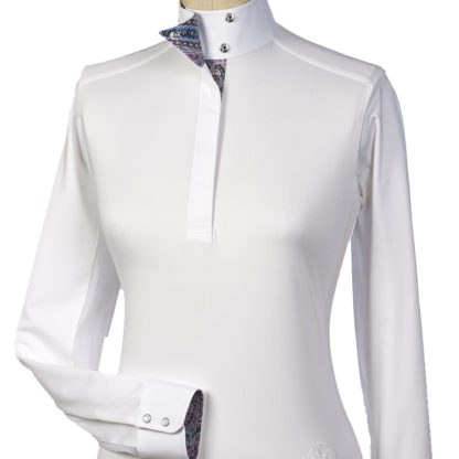 """Madeira"" Ladies Talent Yarn Wrap Collar Show Shirt"