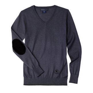 "Dark Grey ""Trey"" V‑Neck Sweater"