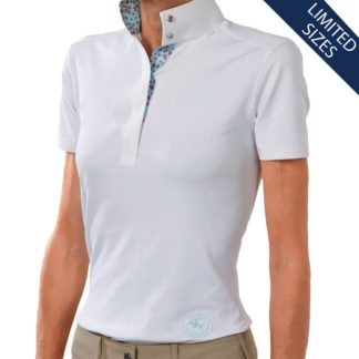 """Valentina"" Ladies Straight Collar European Short Sleeve Talent Yarn Shirt"
