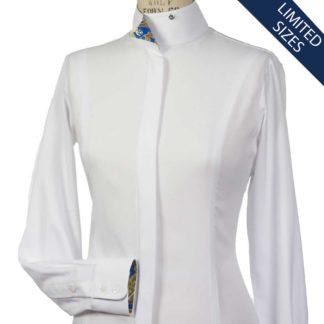 """Stella"" Ladies Talent Yarn Fitted Wrap Collar Show Shirt"