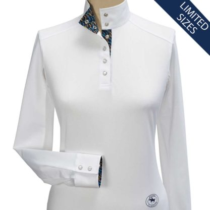 """Swirl"" Ladies Straight Collar Long Sleeve Talent Yarn Shirt"