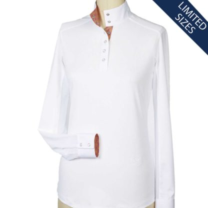 """Lido"" Straight Collar Talent Yarn Shirt"