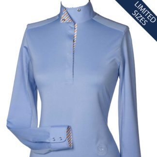 """Azure"" Ladies Talent Yarn Straight Collar Show Shirt"
