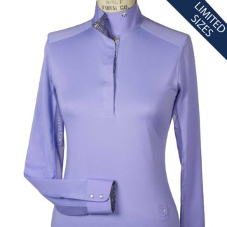 """Viola"" Ladies Talent Yarn Wrap Collar Show Shirt"