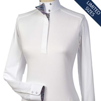 """Madeira"" Ladies Talent Yarn Wrap Collar Show Shirt"