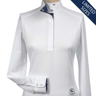 """Gelato"" Ladies Talent Yarn Wrap Collar Show Shirt"