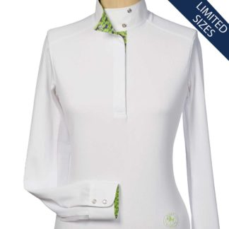 """Cheval"" Ladies Talent Yarn Wrap Collar Show Shirt"