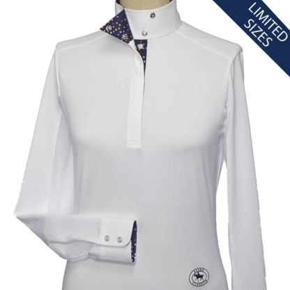 """Pallini"" Ladies Talent Yarn Wrap Collar Show Shirt"