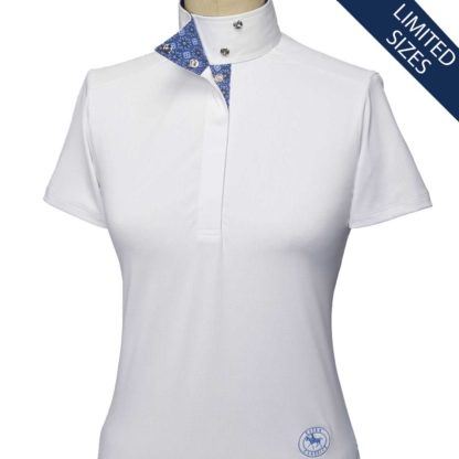 """Flora"" Ladies Wrap Collar Short Sleeve Talent Yarn Shirt"
