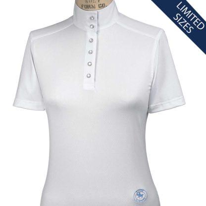 """Fauna"" Ladies Straight Collar Short Sleeve Talent Yarn Shirt"