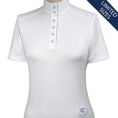 """Bordeaux"" Ladies Straight Collar Short Sleeve Talent Yarn Shirt"