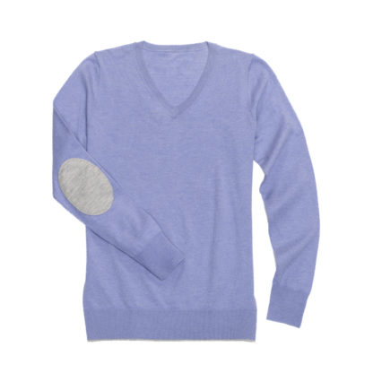 "Light Violet ""Trey"" V‑Neck Sweater"