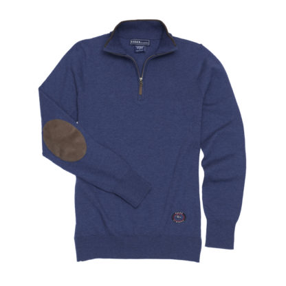 "Dark Blue ""Trey"" Quarter‑Zip Sweater"