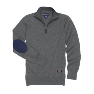 "Grey ""Trey"" Quarter‑Zip Sweater"