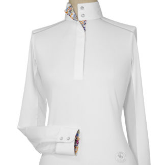 """Danny & Ron's Rescue"" Ladies Talent Yarn Straight Collar Show Shirt With Shoulder Piping"